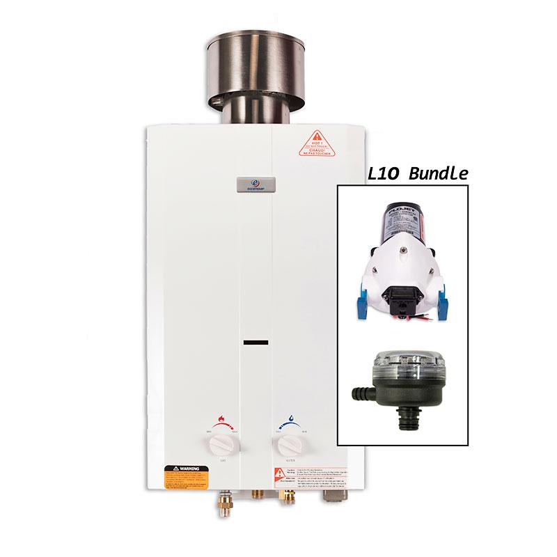 kit chauffe eau instantan eccotemp l10 pompe 12v filtre nuenergy distribution. Black Bedroom Furniture Sets. Home Design Ideas